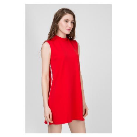 Tommy Jeans dámské červené šaty Detail Tommy Hilfiger