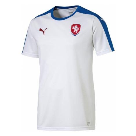 Dres Puma Czech Republic Away Replica Bílá / Modrá