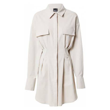 Gina Tricot Košilové šaty 'Emma' světle šedá