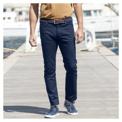 Blancheporte Twilové kalhoty rovného střihu nám.modrá
