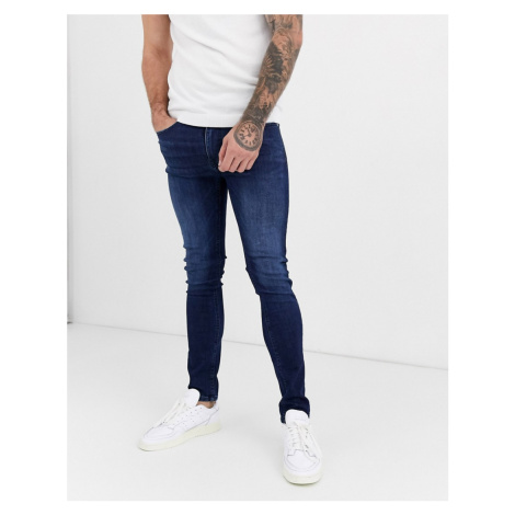 Burton Menswear super skinny jeans in dark blue