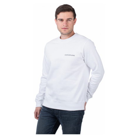 Calvin Klein Calvin Klein pánská bílá mikina MONOGRAM CREW NECK