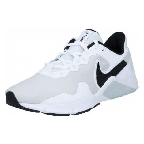 NIKE Sportovní boty 'Legend Essential 2' černá / světle šedá / bílá