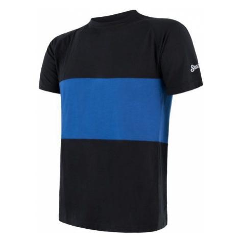 Sensor Merino Air PT pánské triko krátký rukáv black/blue