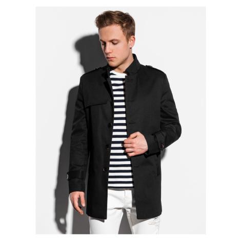 Jarní kabát C269 - černý Ombre