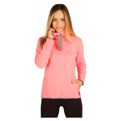LITEX Fleecová mikina dámská 7A290311 reflexně růžová