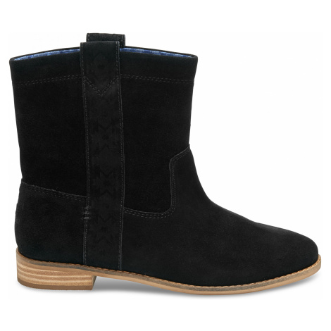Black Suede Women's Laurel Boot Toms