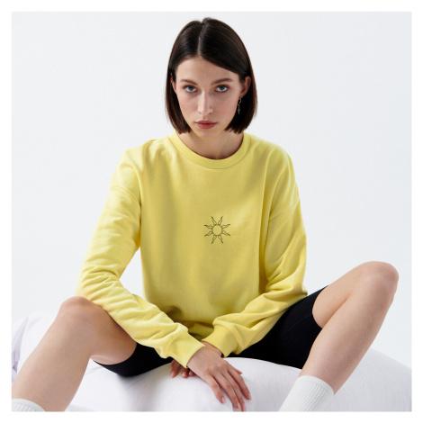 Cropp - Ladies` sweatshirt - Žlutá