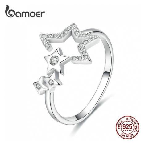 Stříbrný prsten hvězdy SCR452 LOAMOER