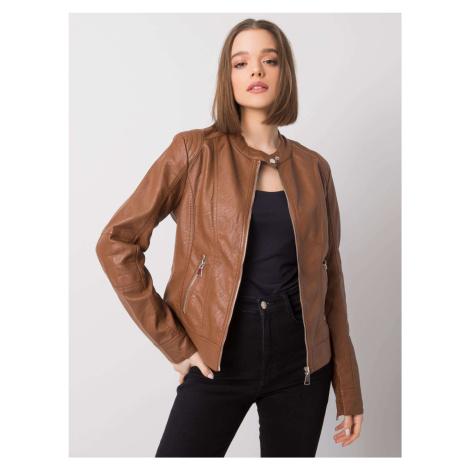 Hnědá dámská koženková bunda NM-DE-KR-HX-2838.95P-brown BASIC