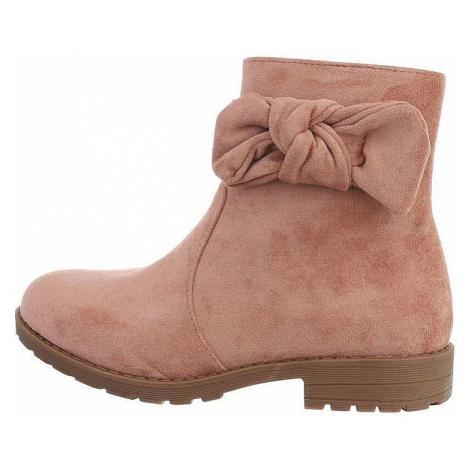 Dětské kotníkové boty - růžové