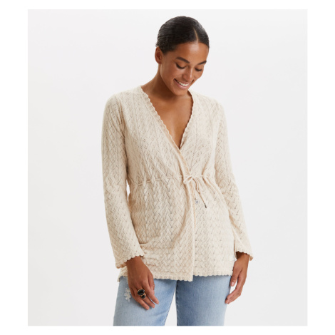 Svetr Odd Molly Wrap Up & Go Long Cardigan - Bílá