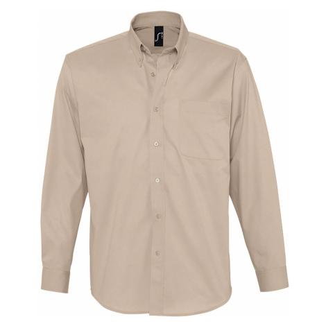 SOĽS Pánská košile BEL-AIR 16090114 Beige SOL'S
