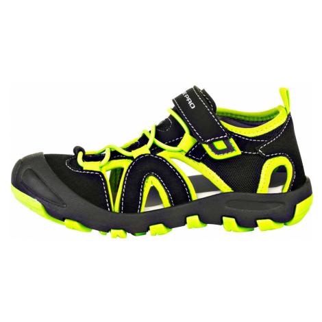 ALPINE PRO FLAVIO Dětská letní obuv KBTR223990 černá