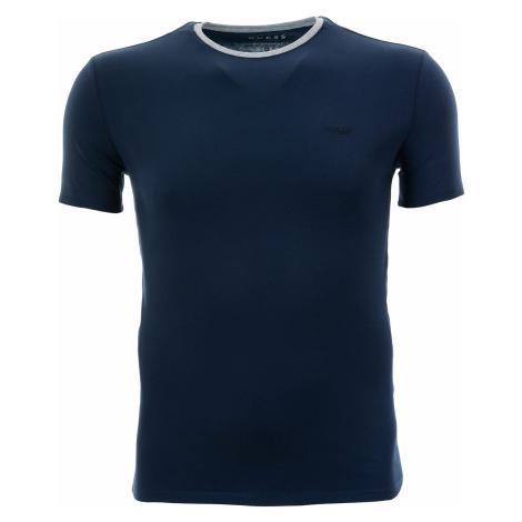 Pánské tmavě modré tričko Guess s kontrastním výstřihem