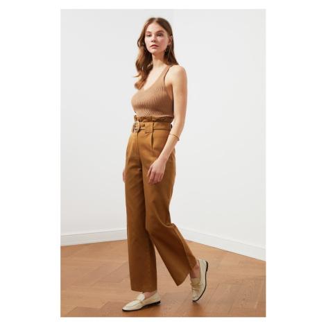 Trendyol Camel Belt Pants