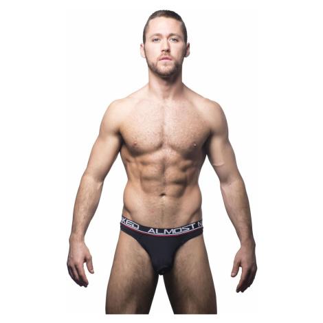 ANDREW CHRISTIAN pánská tanga černá Almost Naked Tagless Premium Thong 90265