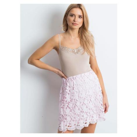 Lace, light pink skirt Fashionhunters