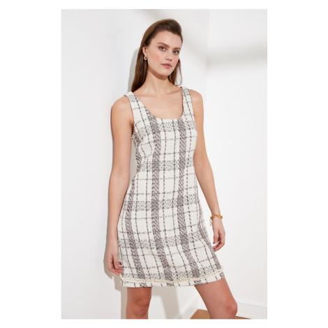 Trendyol Ekru Tweed Dress