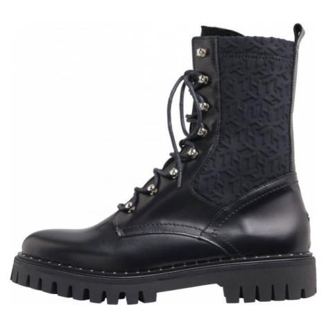 Tommy Hilfiger MATERIAL MIX TH BOOTIE - Dámské kožené boty