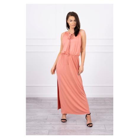 Boho dress with fly dark apricot Kesi