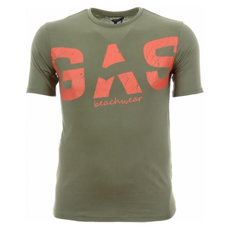 Pánské zelené tričko s potiskem Gas