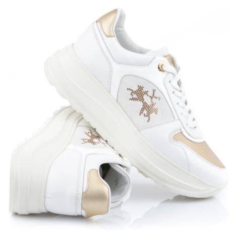 Tenisky La Martina Woman Shoes Nappa - Bílá