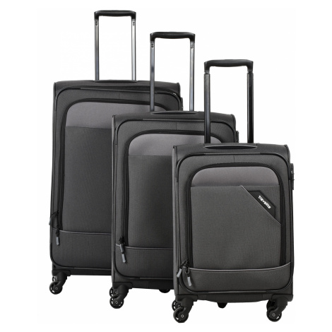 Travelite Derby 4w S,M,L Anthracite – sada 3 kufrů