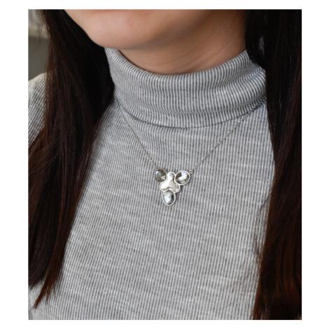 Evolution Group Stříbrný náhrdelník s krystaly Swarovski bílý 72053.3