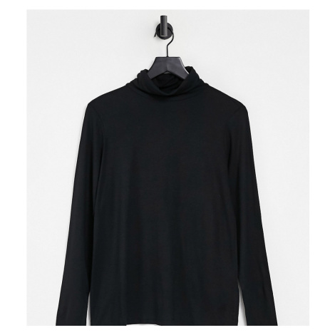 New Look Maternity roll neck top in black