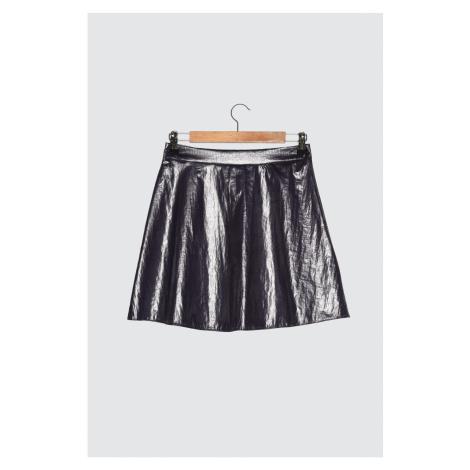 Trendyol Purple Metallic Fabric Skirt