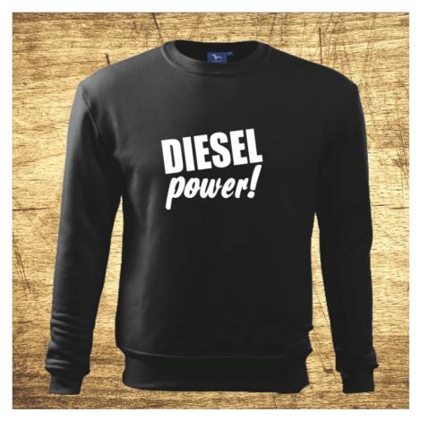 Mikina s motívom Diesel power! BezvaTriko