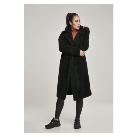 Ladies Oversized Teddy Coat - black Urban Classics