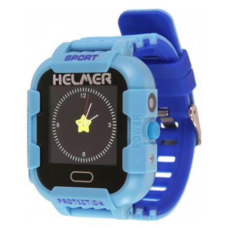 Helmer Chytré dotykové hodinky s GPS lokátorem a fotoaparátem - LK 708 modré