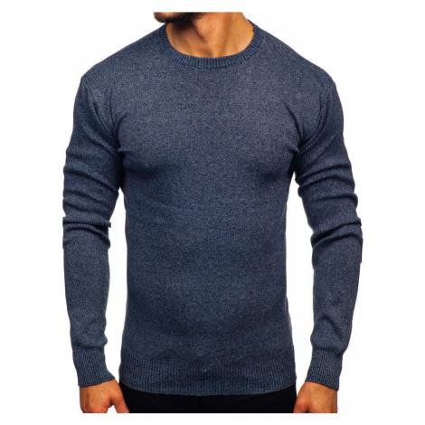Tmavě modrý pánský svetr Bolf 8364