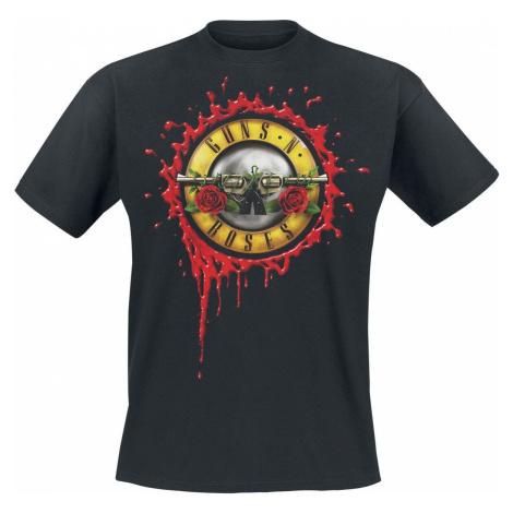 Guns N' Roses Bloody Bullet NITL Europe Tour 2018 tricko černá
