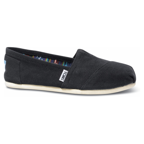 Black Canvas Alpargatas Toms