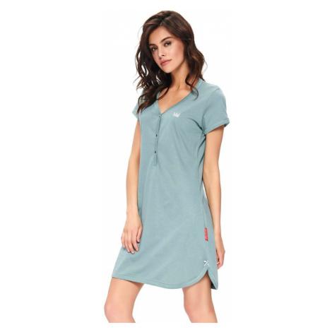 DN Nightwear Dámská bavlněná košile Lor mineral korunka