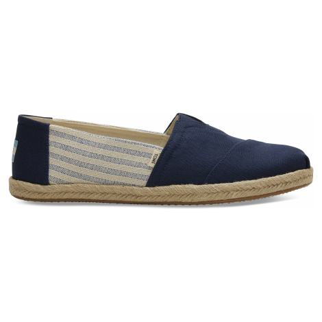 Navy Ivy League Stripes Men Alpargata Toms