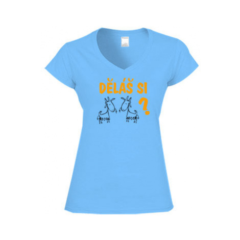 Dámské tričko V-výstřih Děláš si kozy