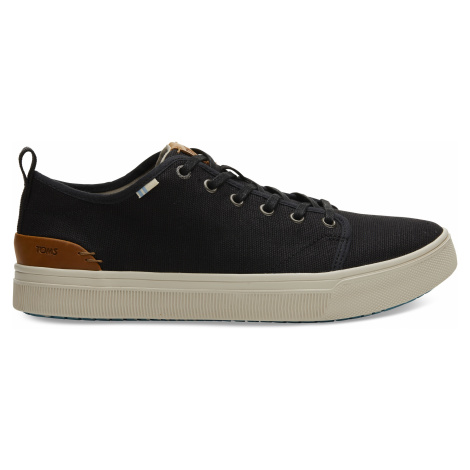 Black Heritage Canvas Men TRVL Lite Low Sneak Toms