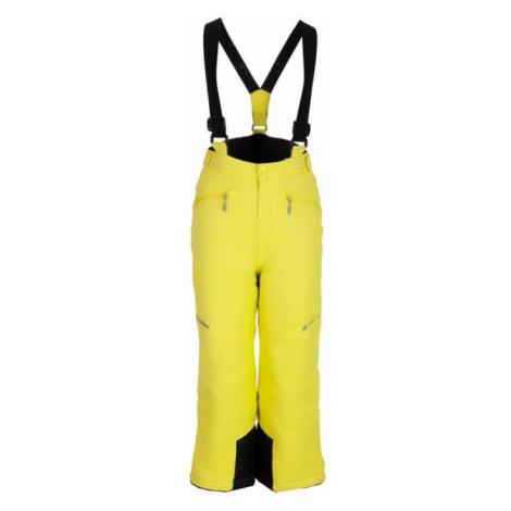 ALPINE PRO ANIKO 2 Dětské lyžařské kalhoty KPAM122564 Sulphur spring