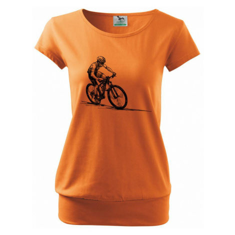 MTB kreslený cyklista - Volné triko city