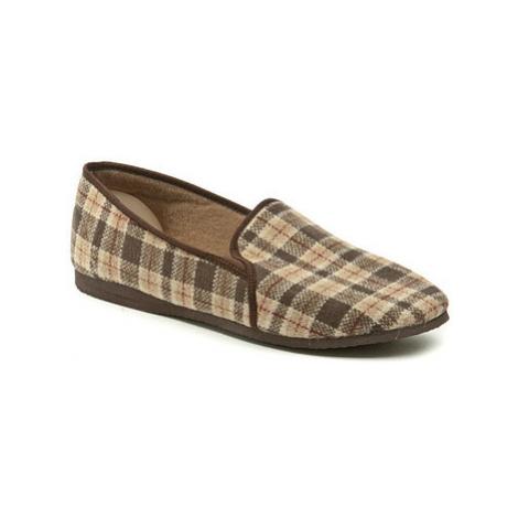 Pegres 1014 hnědá pánská domácí obuv Hnědá