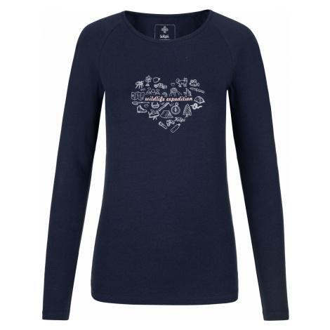 KILPI Dámské triko dlouhý rukáv INA-W NL0100KIDBL Tmavě modrá