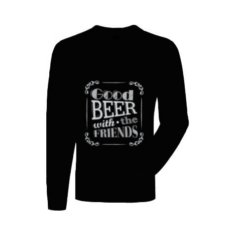 Pánská mikina bez kapuce Good beer with friends