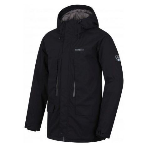 Hannah NICON černá - Pánský zimní kabát s membránou