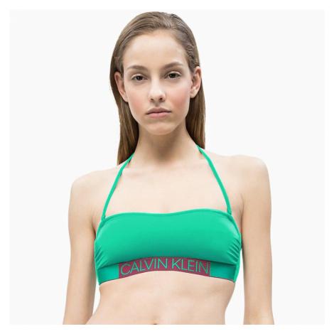 Zelený horní díl plavek Core Icon Calvin Klein