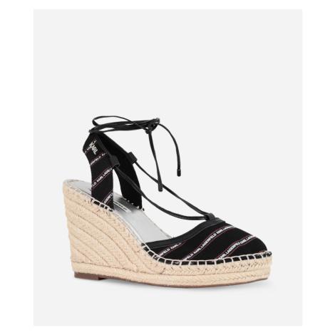 Lodičky Karl Lagerfeld Kamini Mid Stripe Logo Sling - Černá