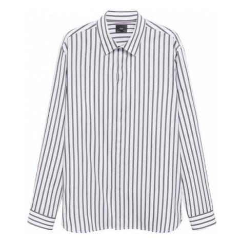 MANGO MAN Košile bílá / fialová